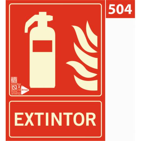 Señal de extintor