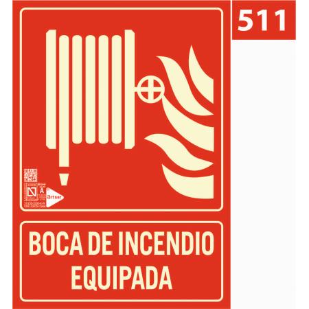 Señal de boca de incendio