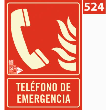 Señal de telélfono de emergencia