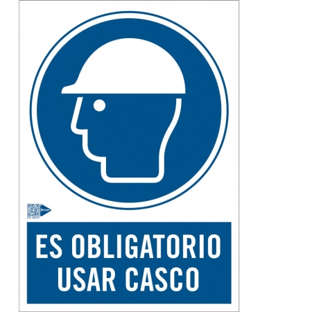 Señal de Obligación de usar Casco