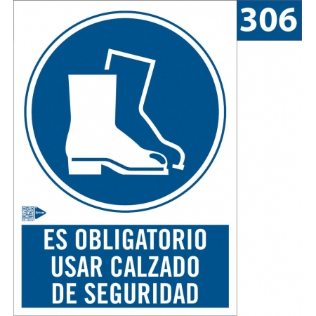 Señal de Obligación de usar calzado de seguridad