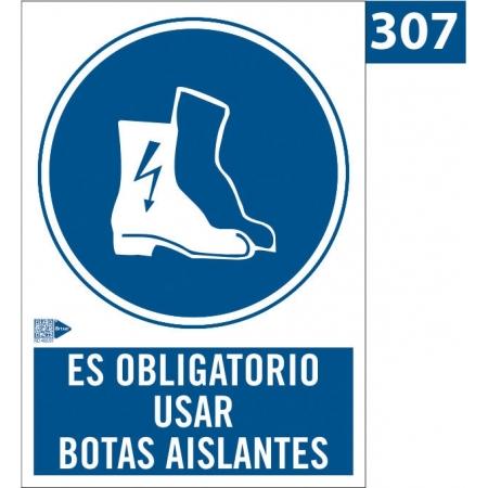 Señal de Obligación de usar botas aislantes