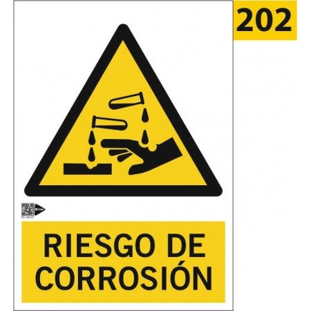 Señal de riesgo de corrosión