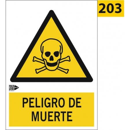 Señal de peligro de muerte