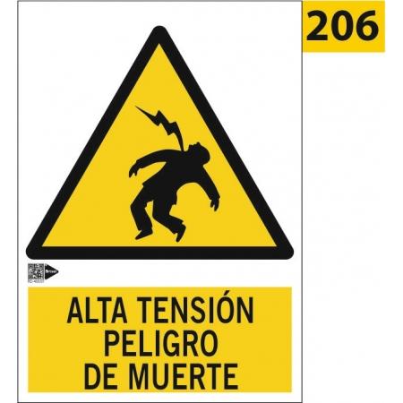Señal de alta tensión peligro de muerte