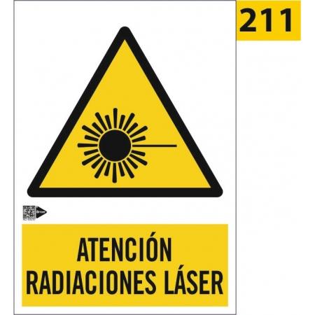 Señal de atención radiaciones láser