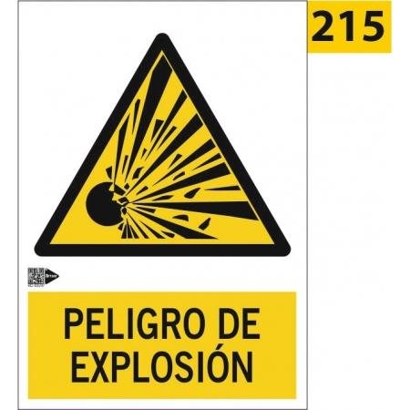 Señal de peligro de explosión