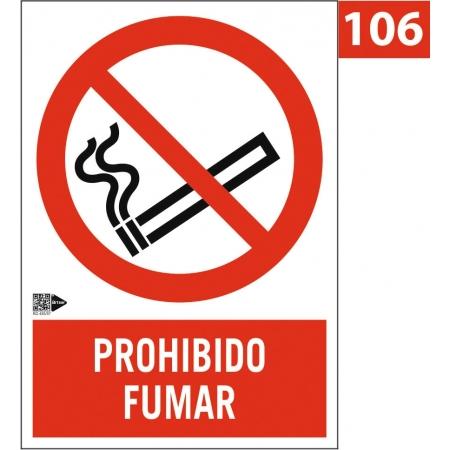 Señal Prohibido fumar -...